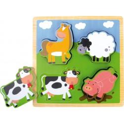 Puzzle en bois avec animaux...