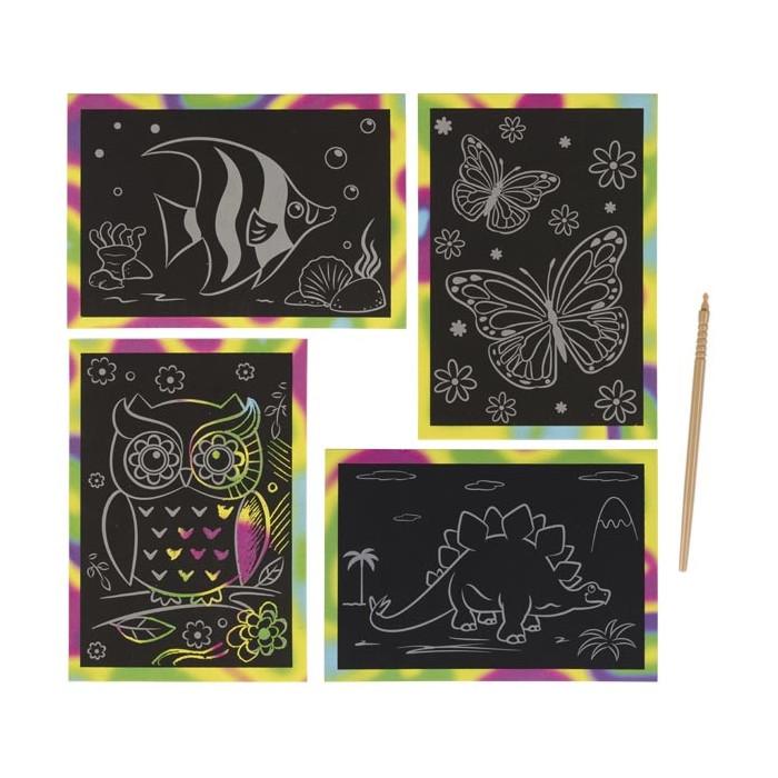 4 cartes à gratter magiques